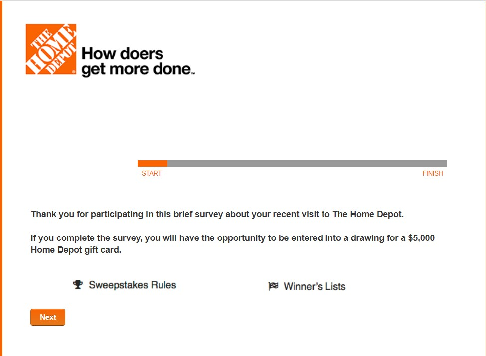 Home Depot Survey: A Step by Step Guide to get Gift Card